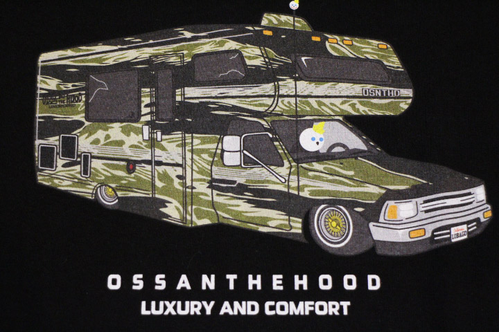 OSSANTHEHOOD Tshirt (Hiluxury-camo) / black