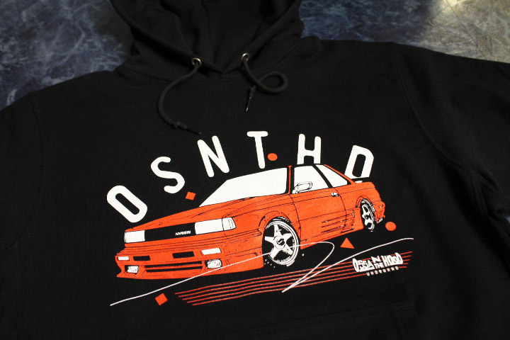 OSSANTHEHOOD pullover hood (nassin-red) / black