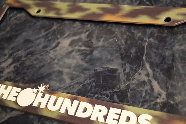 THE HUNDREDS license plate frame