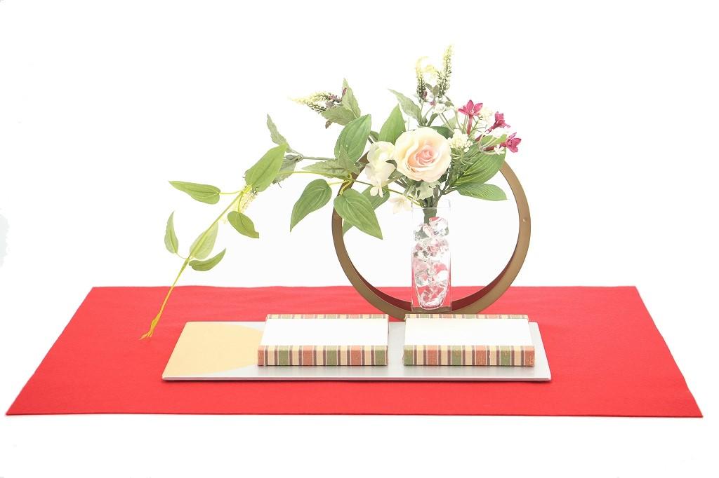 かわいい 小さな お雛様 rico沙羅(さら)木目込み親王飾り minimal flower アレンジ