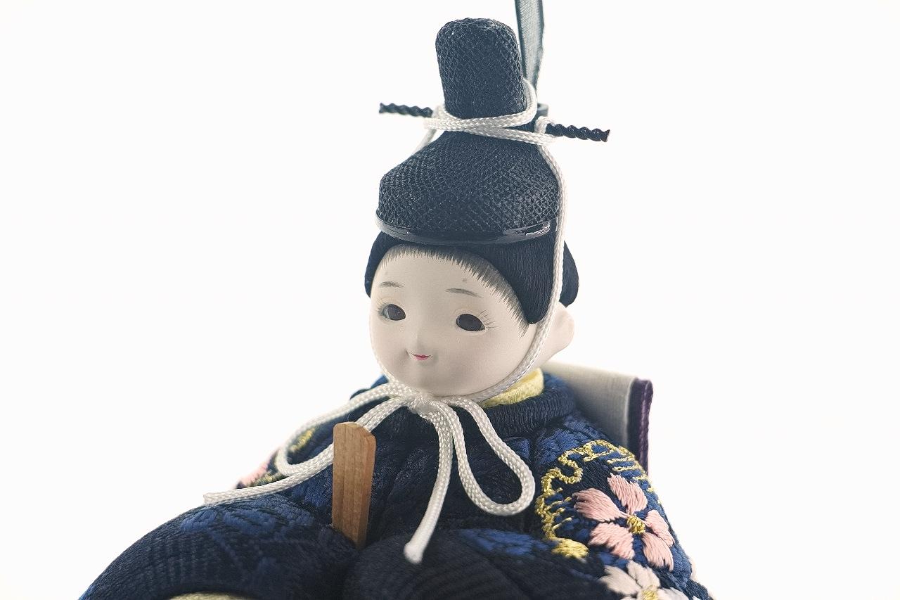 インスタグラム掲載 かわいい 小さな お雛様 rico美桜(みお)木目込み親王飾り高岡塗台黒 蒔絵屏風
