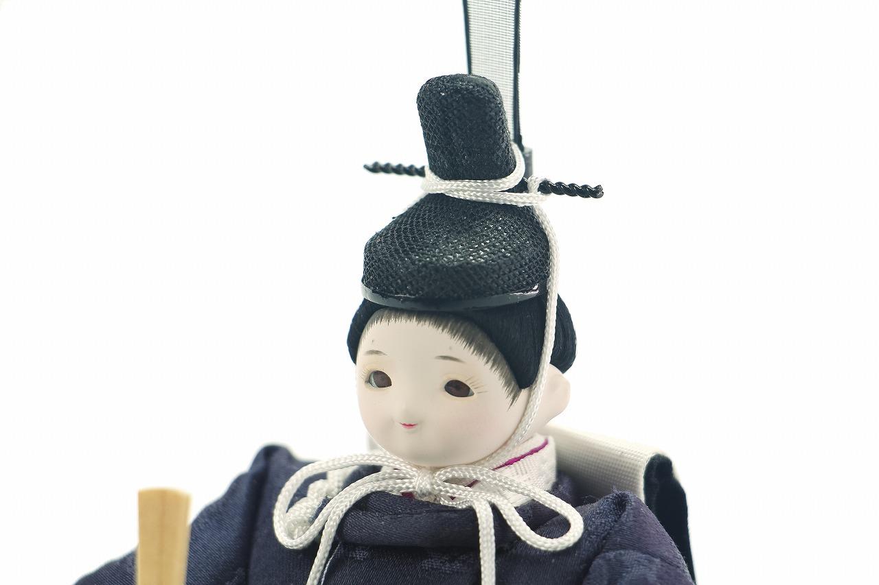 かわいい 小さな お雛様 coco繭(まゆ)衣装着親王飾り高岡塗台 蒔絵屏風