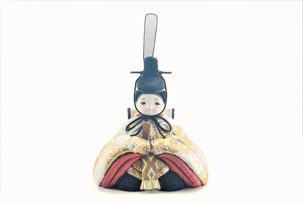 かわいい 小さな お雛様 rico彩華(あやか)木目込み親王飾り高岡塗台 金に枝小桜屏風