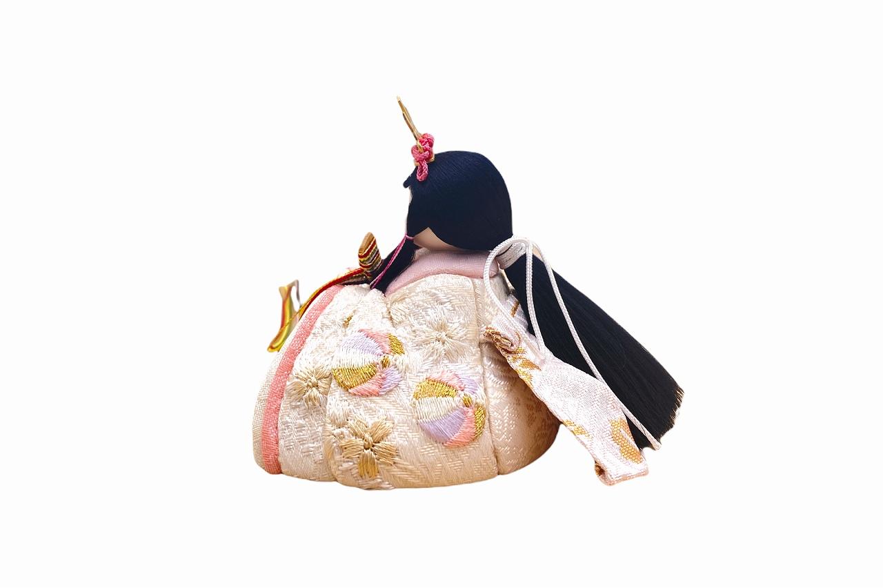 インスタグラム掲載 かわいい 小さな お雛様 rico結愛(ゆあ)木目込み親王飾り 高岡塗台 木らでん屏風