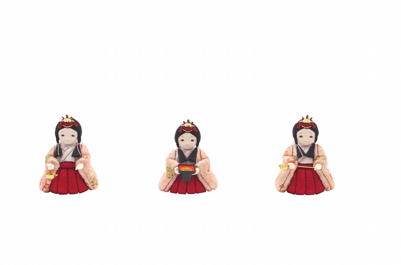かわいい 小さな お雛様 rico美桜(みお)木目込み五人飾り minimal木台ソリッド 水玉屏風