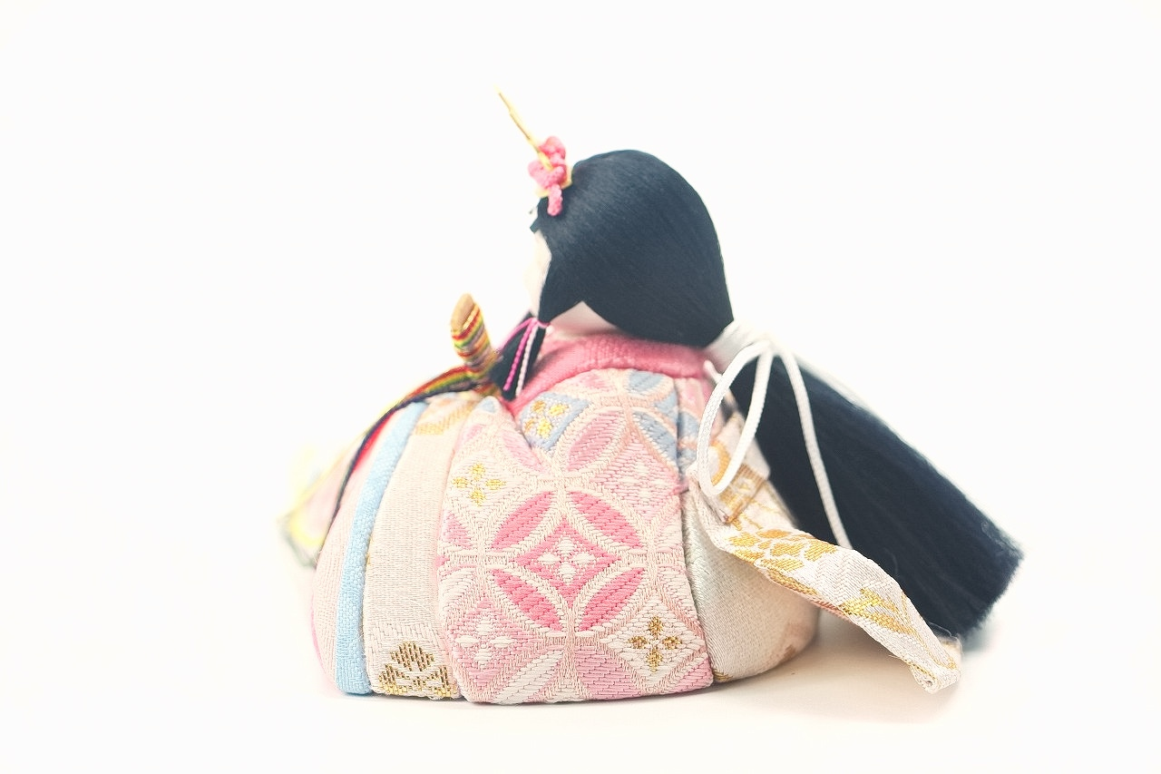かわいい 小さな お雛様 rico桃音(もね)木目込み親王飾り colocoloロング アッシュピーチ