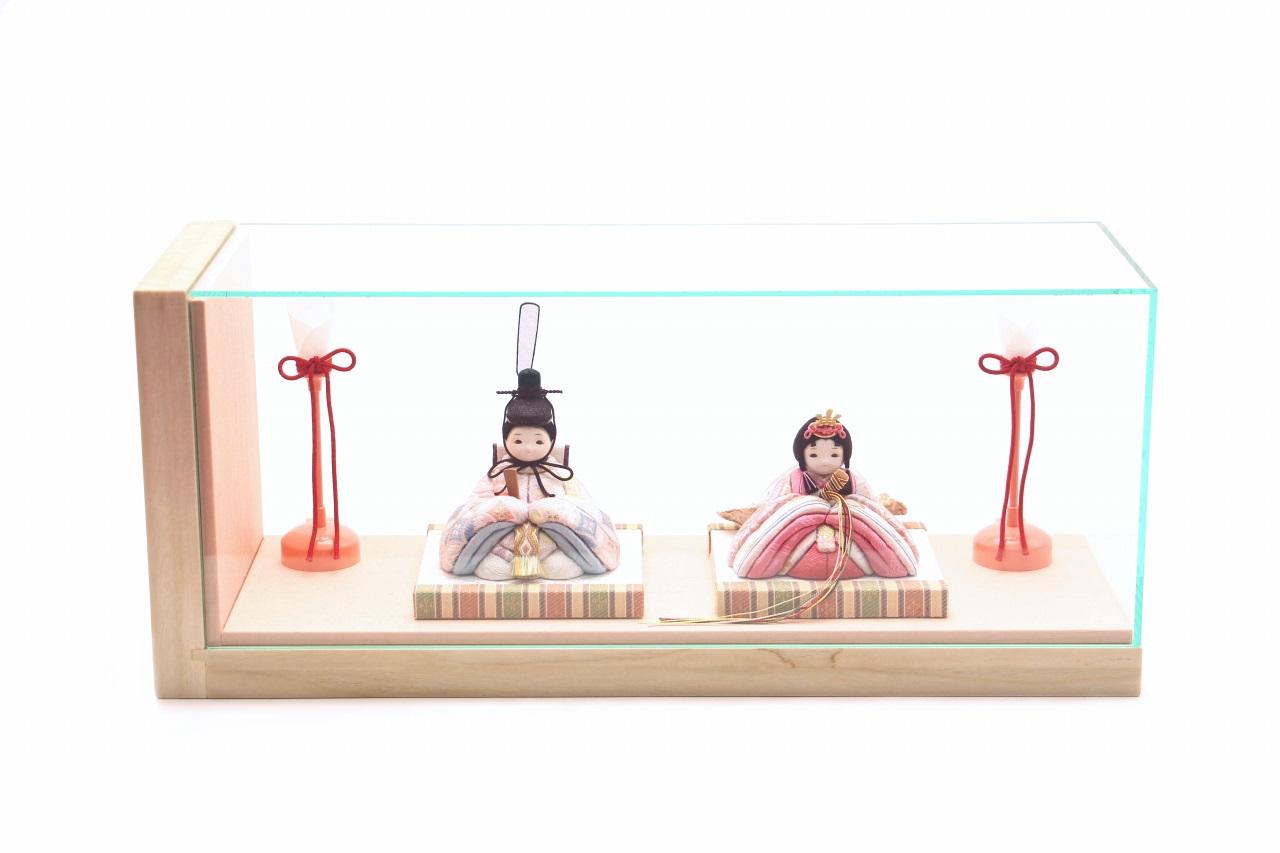 rico桃音(もね)木目込み親王飾り雛人形 colocoloロング アッシュピーチ