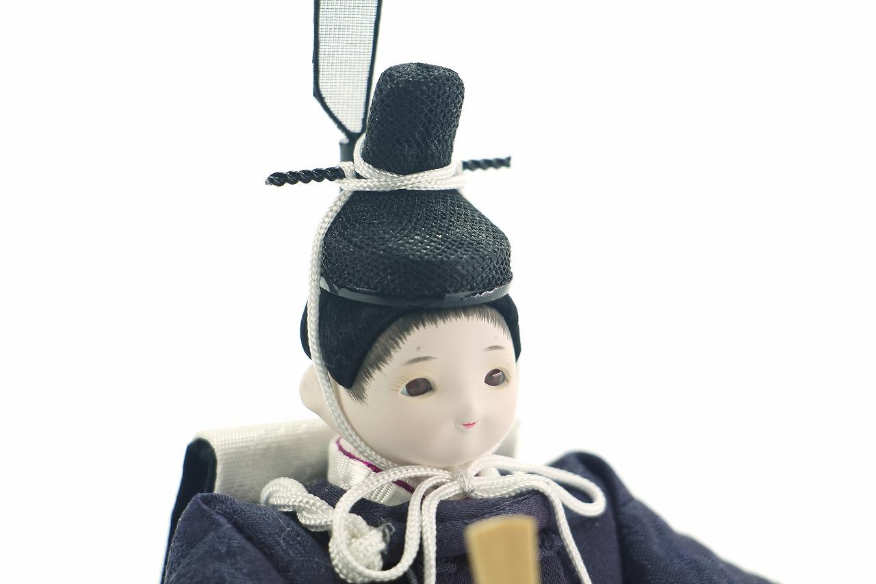 かわいい 小さな お雛様 coco繭(まゆ)衣装着親王飾りcolocoloロング アッシュピーチ