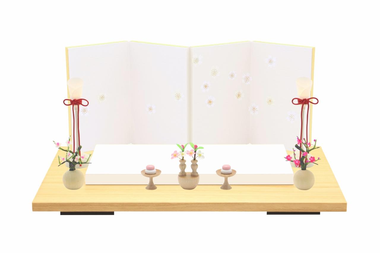 インスタグラム掲載 小さな お雛様 rico梨花(りんか)木目込み親王飾り 高岡塗台