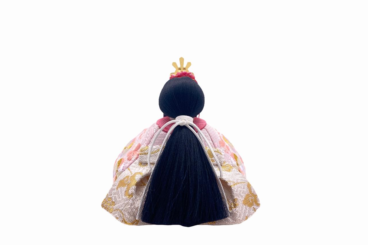 インスタグラム掲載 かわいい 小さな お雛様 rico沙羅(さら)木目込み五人飾り 高岡塗台 木螺鈿屏風