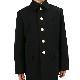 小学生 折襟 冬上着 【黒】 ジャケット 制服 学生服 標準型 詰襟