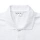 長袖ポロシャツ 白 110-150 SS-5L 綿65% ポリエステル35%