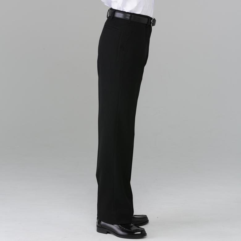 学生服 着心地のいい冬ズボン (ノータック/ワンタック) 中学 高校 標準型 制服 【裾あげテープ付 スピード発送】 <サイズ: W61〜115> *ネット限定*