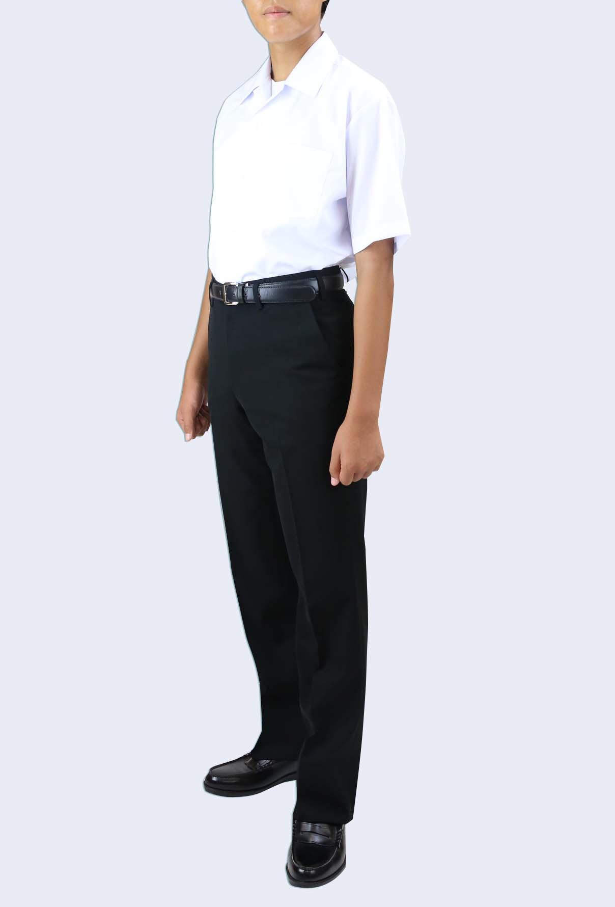 形態安定 半袖 開襟シャツ 左胸ポケット
