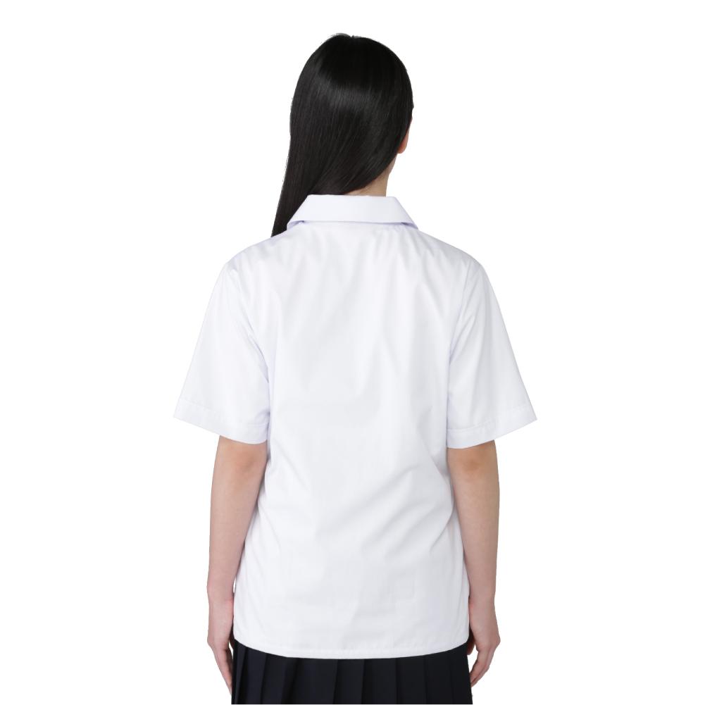 女子 半袖開襟ブラウス 【形態安定】 ノンアイロン