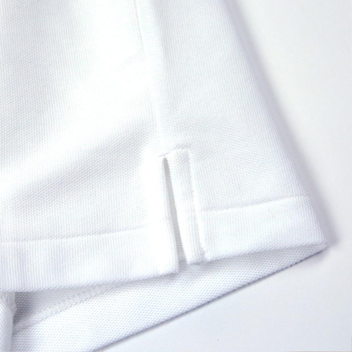 半袖 学生 ポロシャツ 白