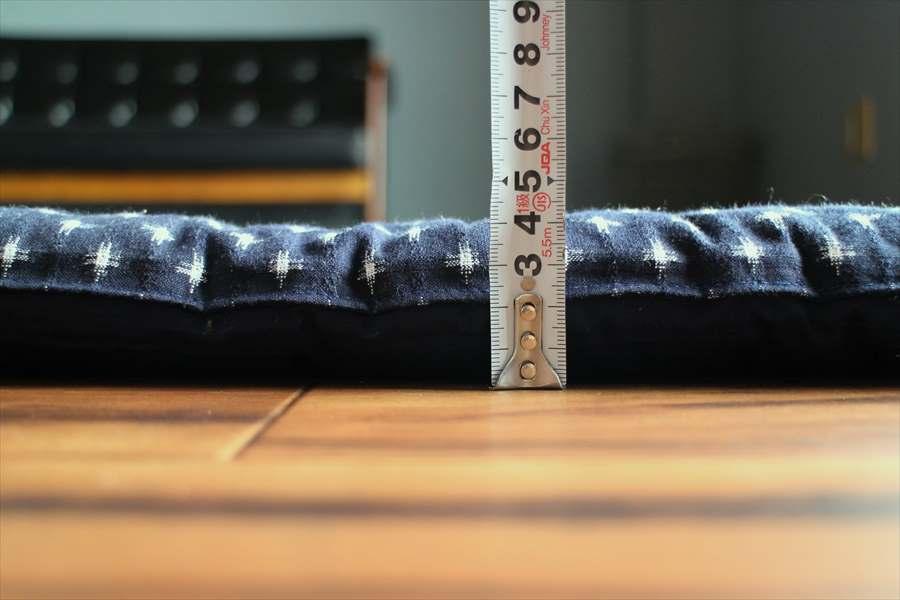 筑後織コットンカーペット 柄:クロス 色:紺/白