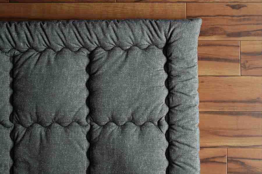 筑後織コットンカーペット 柄:ツムギ 色:灰