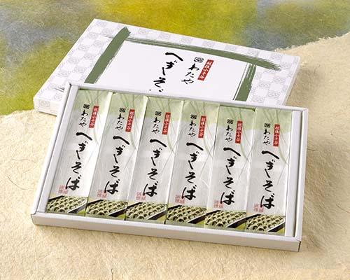 【新潟名物】越後小千谷わたや へぎそば 200g×6袋