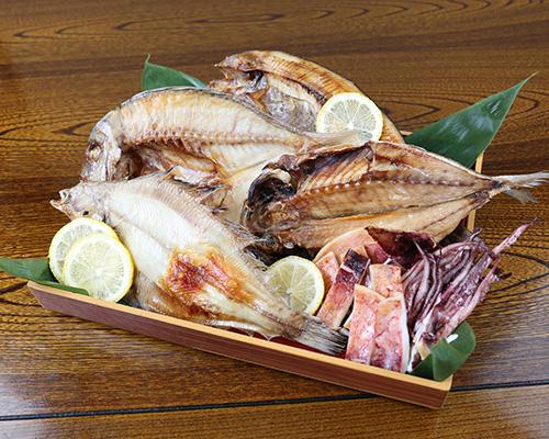国内産 5種の一夜干魚詰合せ(真鯛・真ほっけ・アジ・カレイ・真イカ/各2枚)