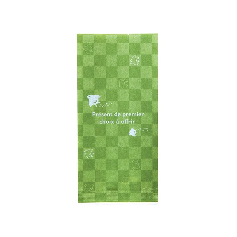 レーヨンガス袋市松千鳥70+30×150(グリーン)