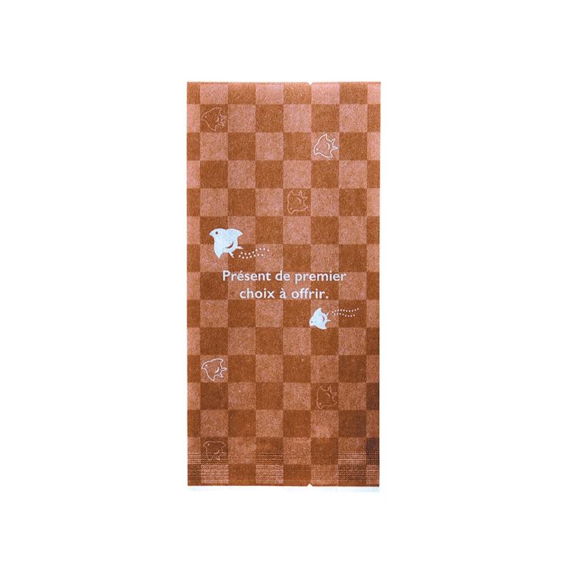 レーヨンガス袋市松千鳥70+30×150(ブラウン)