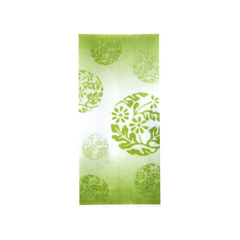 レーヨンガス袋花文様70+30×150(グリーン)