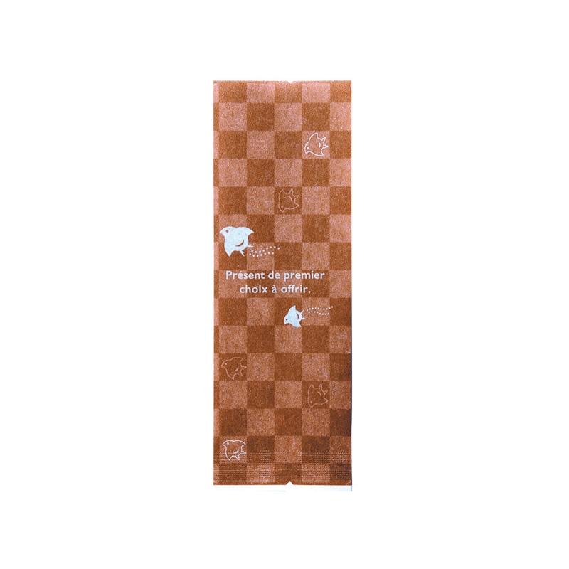 レーヨンガス袋市松千鳥50+40×150(ブラウン)