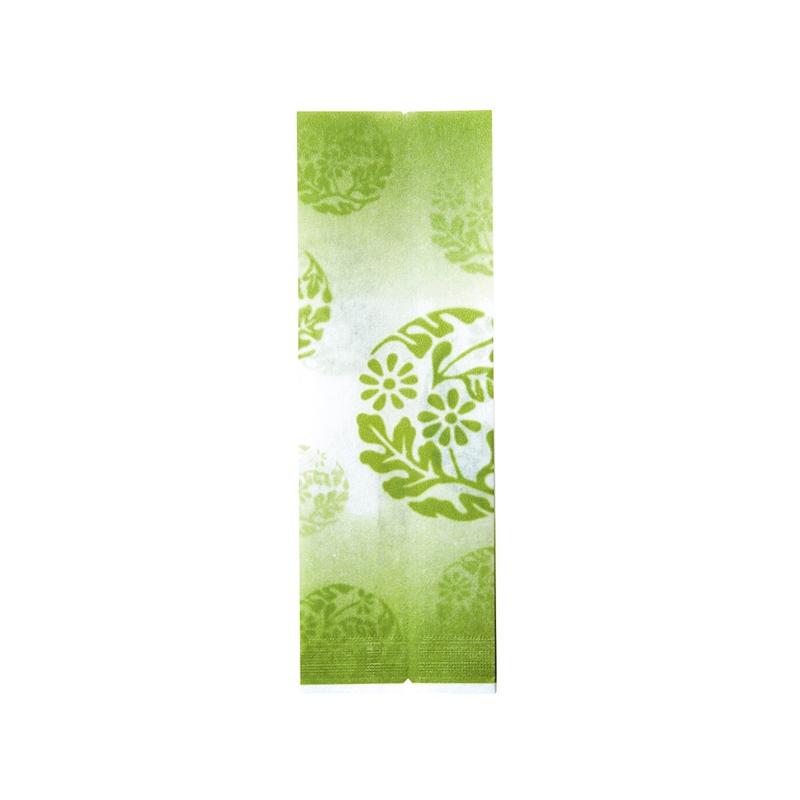 レーヨンガス袋花文様50+40×150(グリーン)