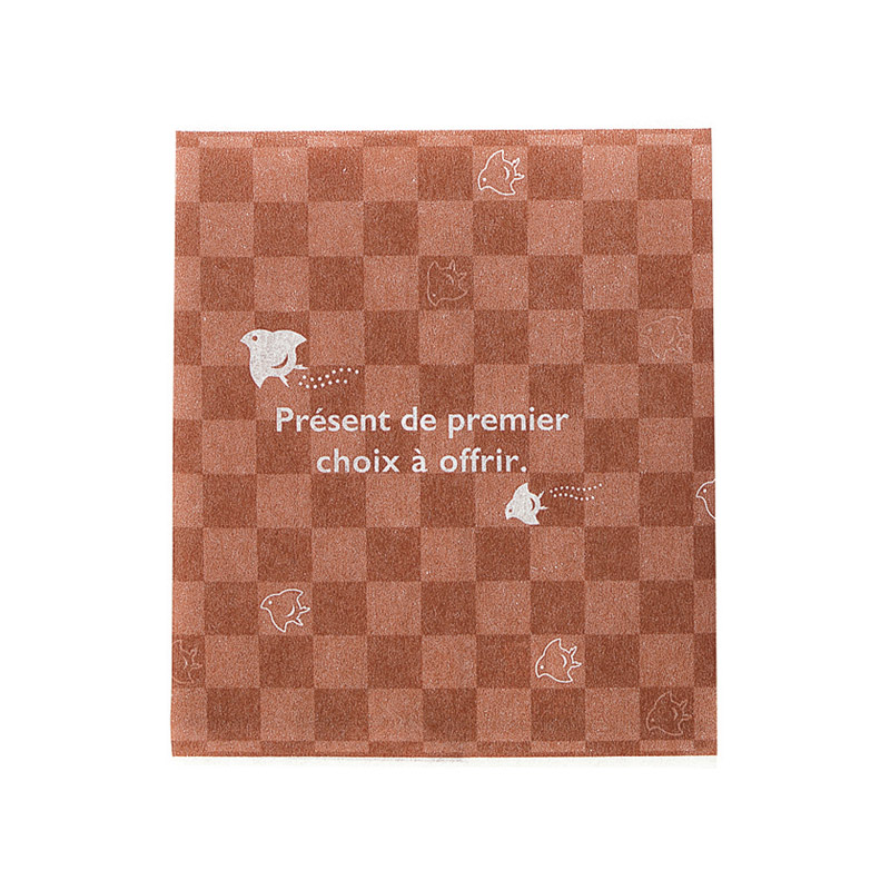 レーヨンガス袋市松千鳥100×120(ブラウン)