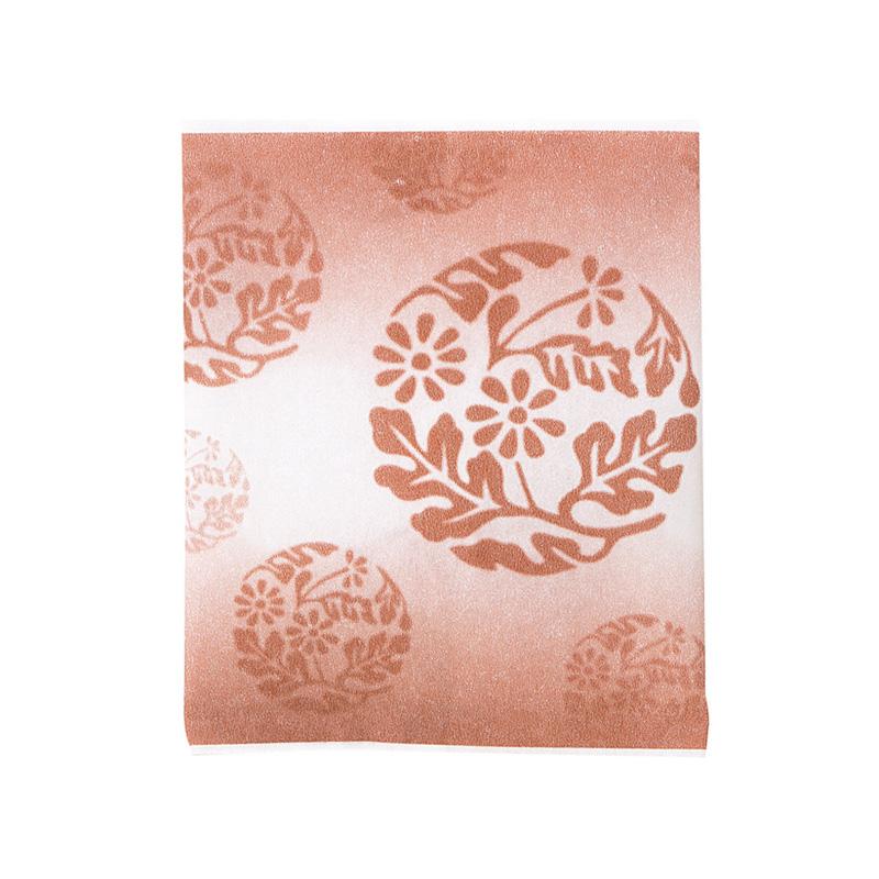 レーヨンガス袋花文様100×120(ブラウン)