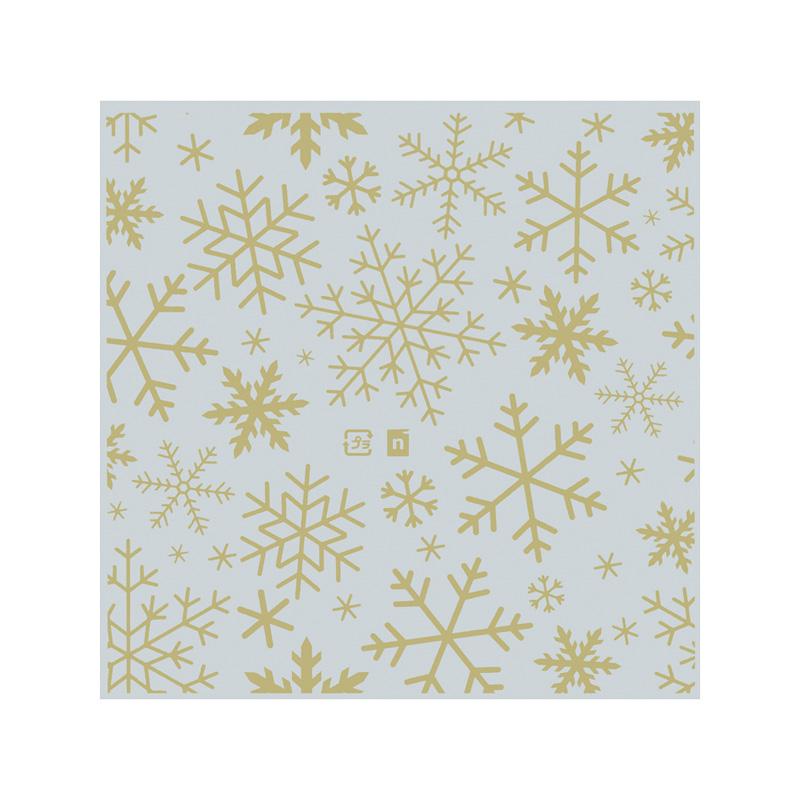 雪の結晶スイーツフィルム(ゴールド)