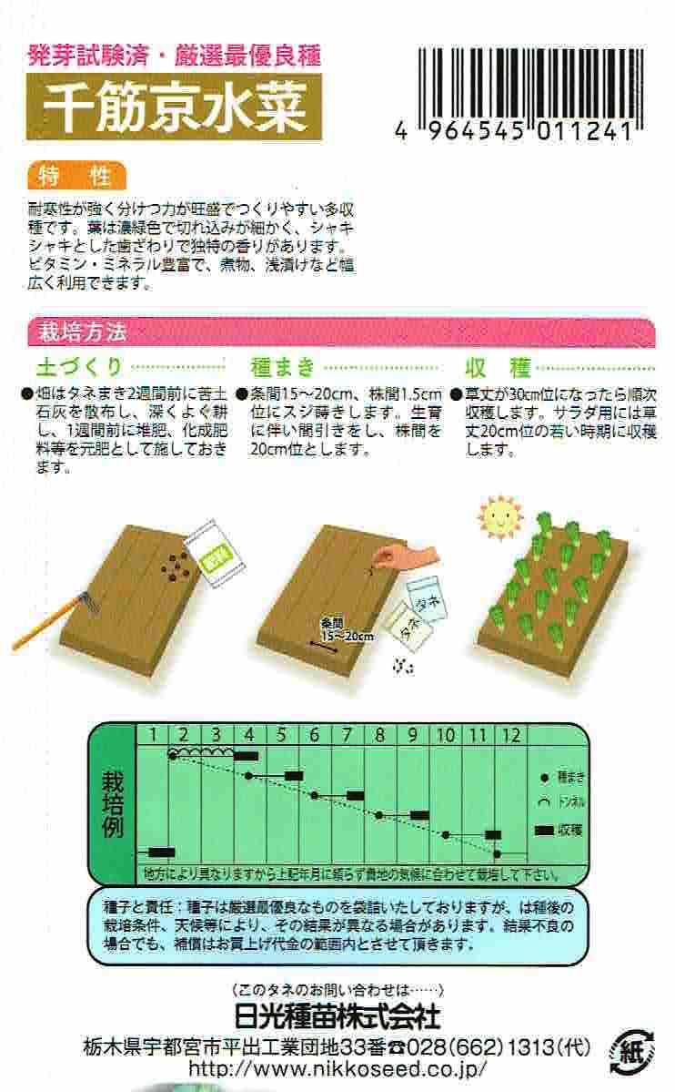千筋京水菜 [1124]