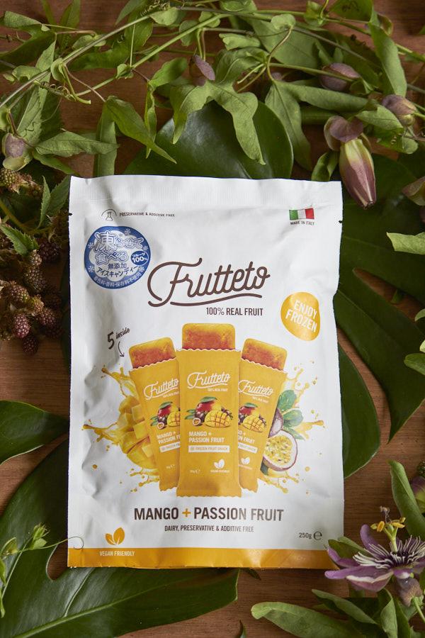 無添加アイスキャンディFrutetto「ピーチ&マンゴー」
