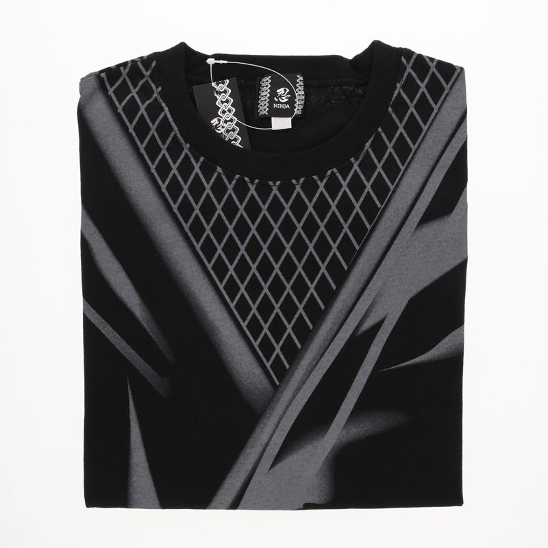 忍者Tシャツ 大人 黒・3L
