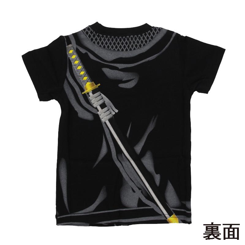 忍者Tシャツ 子供 黒/90