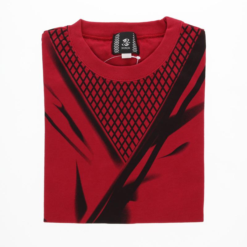 忍者Tシャツ 子供 赤/110