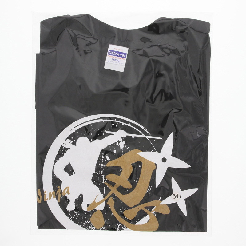 Tシャツ 忍・黒/XXL