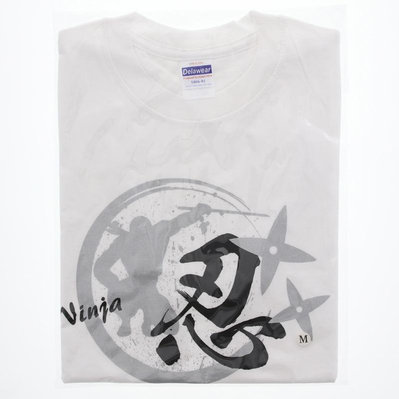 Tシャツ 忍・白/XL