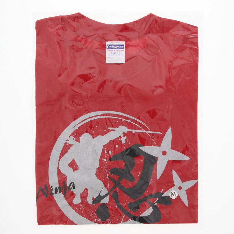 Tシャツ 忍・赤/S