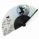 504−350 シルク扇子 忍者と鳥