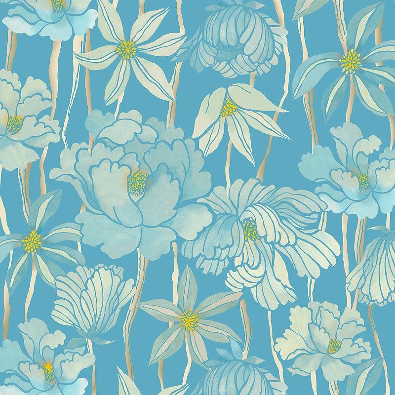 『牡丹と菊』(平織96cm)