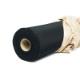 撥水加工生地・織物ファイユ(ブラック・巾110cm)【反販売】