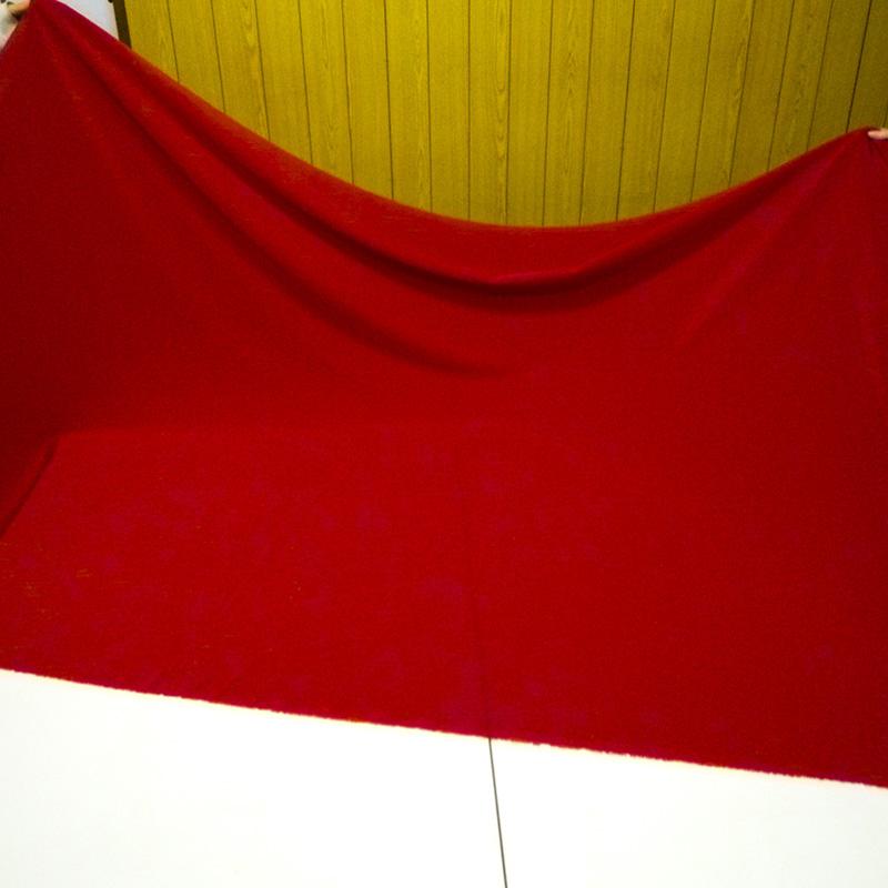 撥水加工生地・織物ファイユ(レッド・巾110cm)