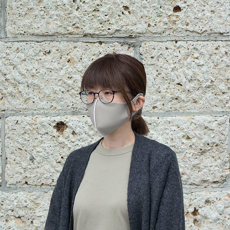 【日本製】衛士の盾 ease[イーズ]マスク リバーシブルタイプ グレー/ホワイト[Mサイズ]