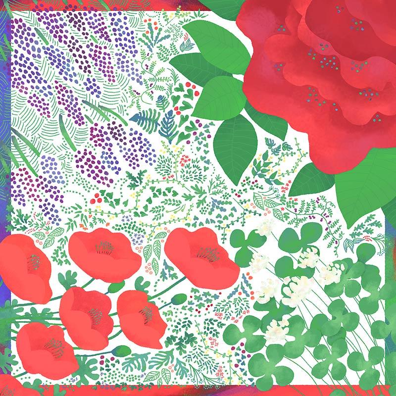 『花でつつむ』(平織96cm)