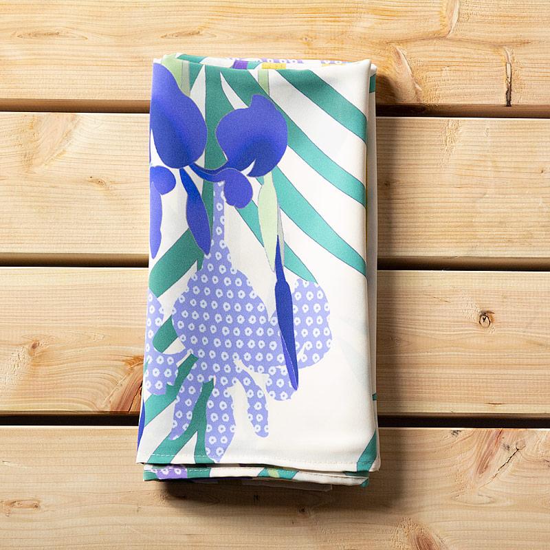 『燕子花(かきつばた)』(平織96cm)