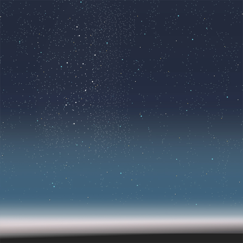 『星空』(平織96cm)