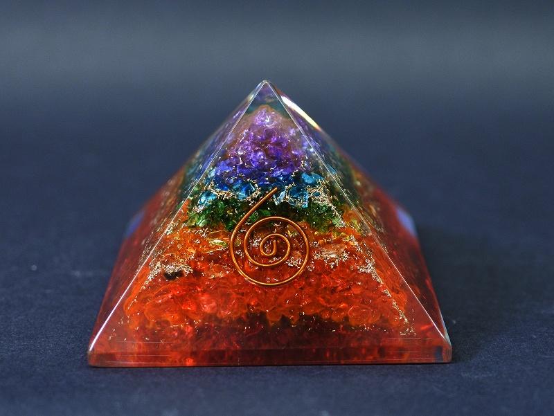 オルゴナイト ピラミッド カラーグラデーションうずまき