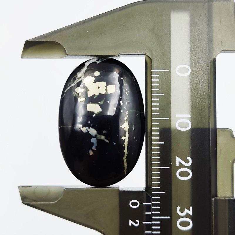 パイライトブラック オーバル カボションルース 5.3g